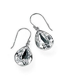 Teardrop Swarovski Crystal Drop Earrings