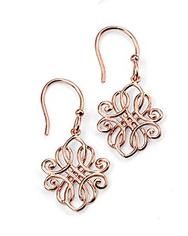 Rose Gold Plated Filigree Earring