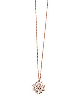Rose Gold Plated Filigree Pendant