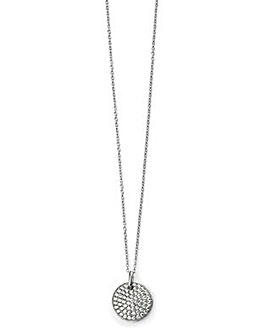Cubic Zirconia Pave Disc Necklace