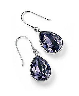 Teardrop Tanzanite Swarovski Earrings
