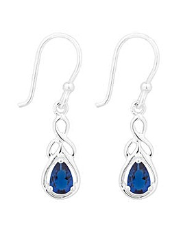 Simply Silver Blue Teardrop Earring