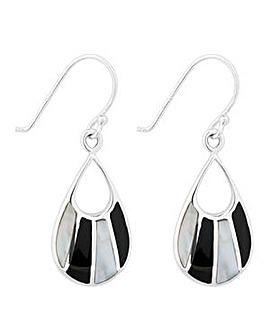 Simply Silver Onyx Teardrop Earring