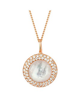 Simply Silver Rose Gold Pearl Necklace