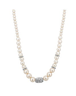 Jon Richard Pearl Crystal Necklace