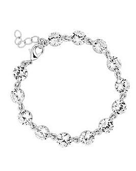 Jon Richard Cubic Zirconia Link Bracelet