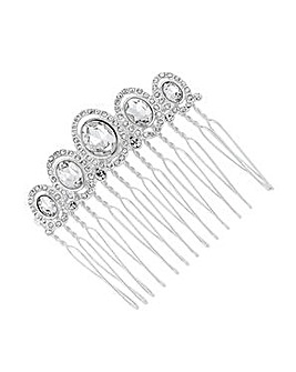 Jon Richard Oval Stone Crystal Hair Comb