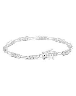 Simply Silver Triple Link Bracelet
