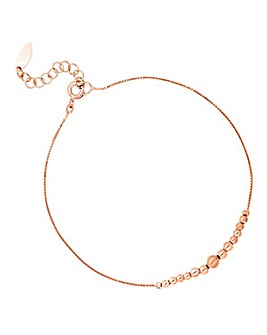 Simply Silver Rose Gold Ball Bracelet