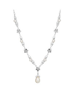Jon Richard Crystal Flower Necklace