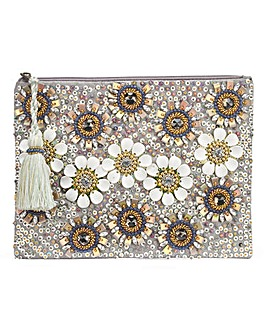 Floral Embellished Clutch Bag