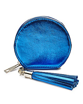 Navy Mini Round Purse