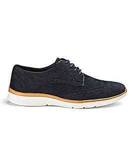 Lace Up Brogue Trainer Extra Wide Fit