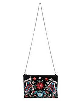 Pieces Jessica Embroidered Clutch
