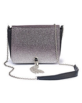 Ombre Glitter Bag With Tassel