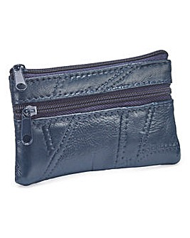 Leather Coin Purse Navy
