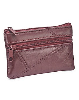 Leather Coin Purse Burgundy