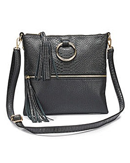 Ella Black Messenger Across Body Bag
