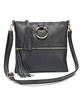 Ella Black Messenger Across Body Bag