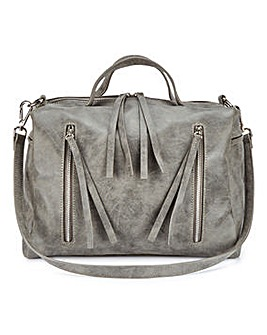 Grey Bowler Bag