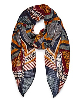 Pieces Tribal Pattern Scarf