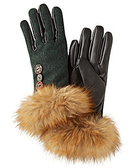 Joe Browns Faux Fur trim Gloves