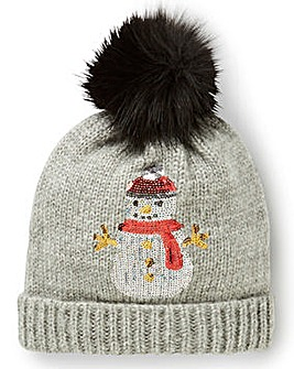 Sequin Snowman Hat