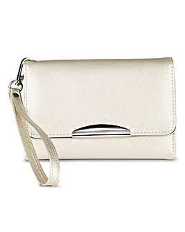 Silver Purse with Phone Pocket