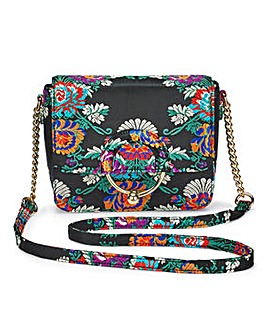 Black Jacquard Shoulder Bag