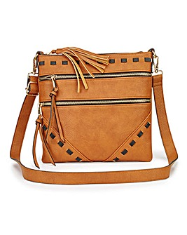 Tan Messenger Across Body Bag