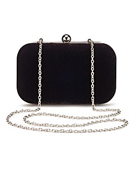 Alice Black Velvet Clutch Bag