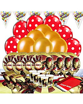 Iron Man Ultimate Party Kit for 16