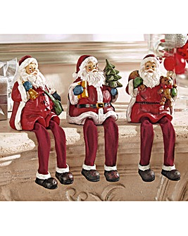 Dangly Leg Santa Pack of 3