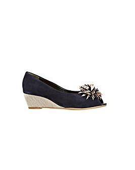Van Dal Kingswood Navy Suede Shoe