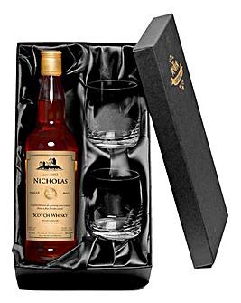 Personalised Malt Whisky & Tumblers
