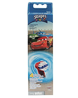 Oral B Pack of 4 Kids Disney Cars Brush