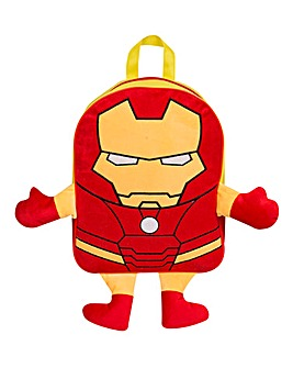Iron Man Embroidered Plush Backpack