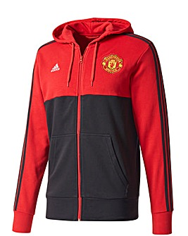 Manchester United Replica 3 Stripe Hoody