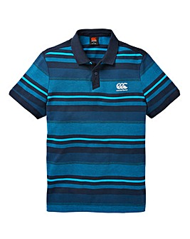 Canterbury Blue Jacquard Polo Regular
