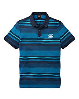 Canterbury Blue Jacquard Polo Regular