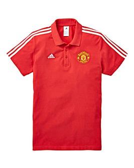 adidas MUFC 3 Stripe Polo
