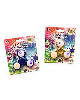 Metallic Flashing Fidget Spinners 2 Pack