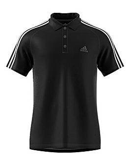 Adidas 3 Stripe Poly Polo