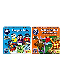 Pack of 2 Snakes and Ladders & Pairs