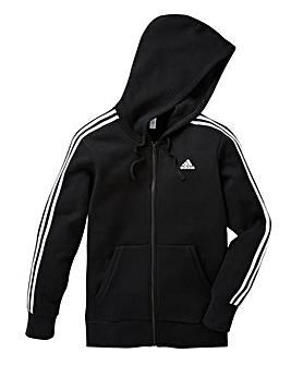 adidas Essential 3Stripe Full-Zip Hoodie