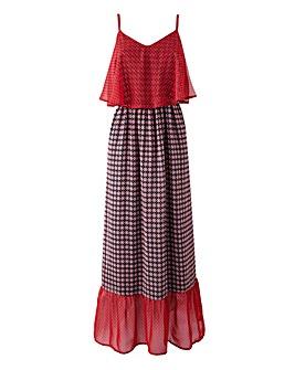 Frill-Hem Maxi Dress