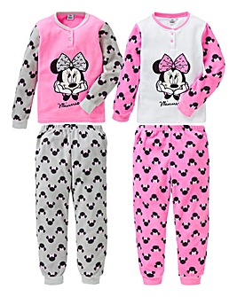 Minnie Mouse Girls Pack of Two Pyjamas