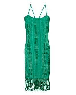 Crochet Fringed Strappy Dress