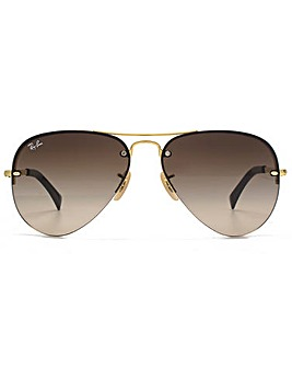 Ray-Ban Rimless Aviator Sunglasses