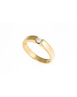 9ct Yellow Gold 0.15ct Diamond Ring